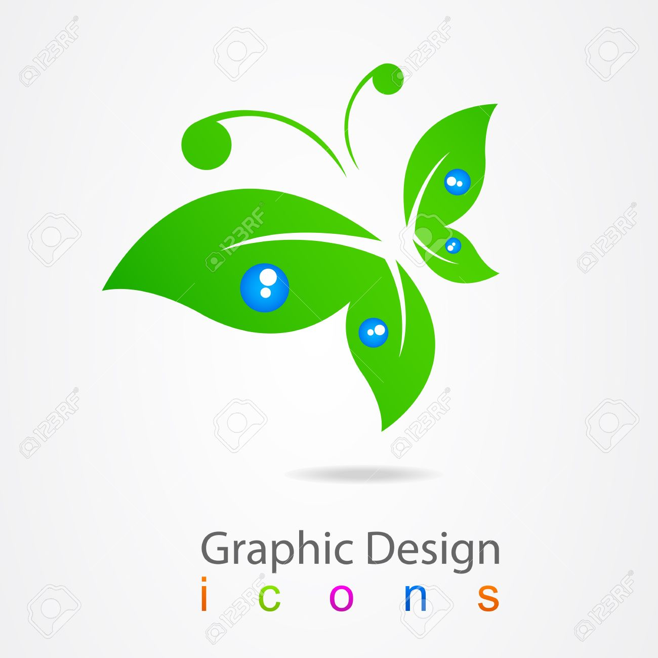 graphic design logo butterfly Stock Vector - 19556982