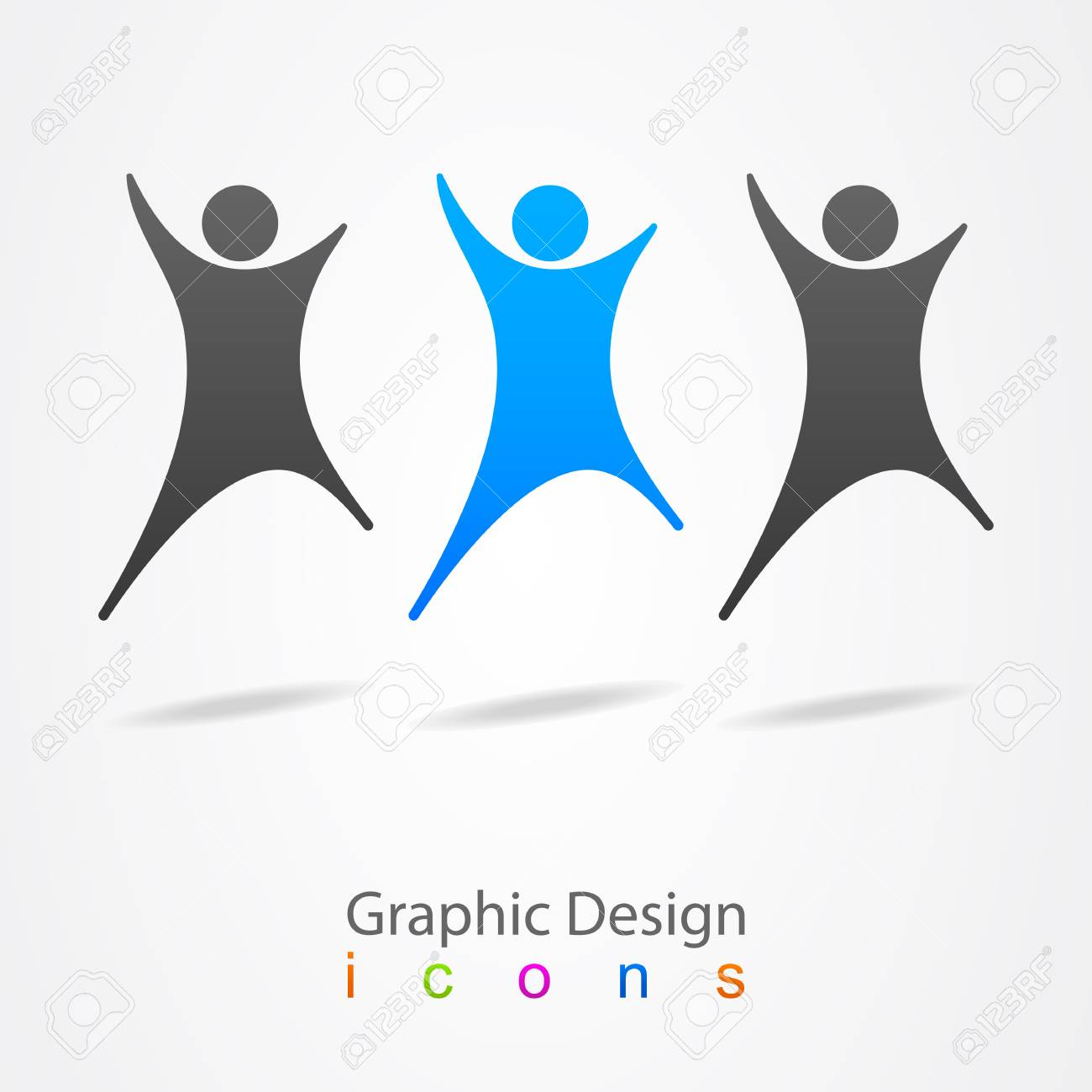 Graphic design social network group Stock Vector - 19557154