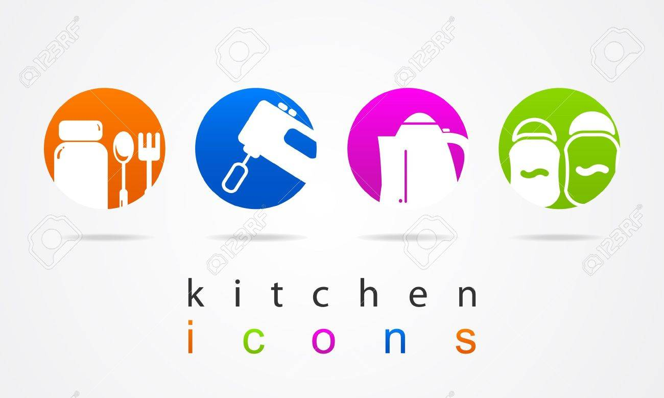 Kitchen Collection Logo Kitchen Collection Icons Royalty Free Cliparts Vectors And Stock