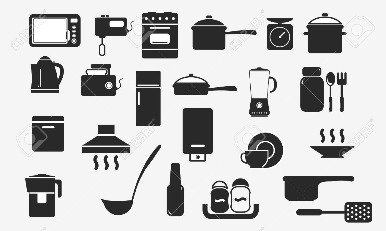 Uncategorized Kitchen Utensils And Appliances kitchen utensils and appliances icon royalty free cliparts vector icon