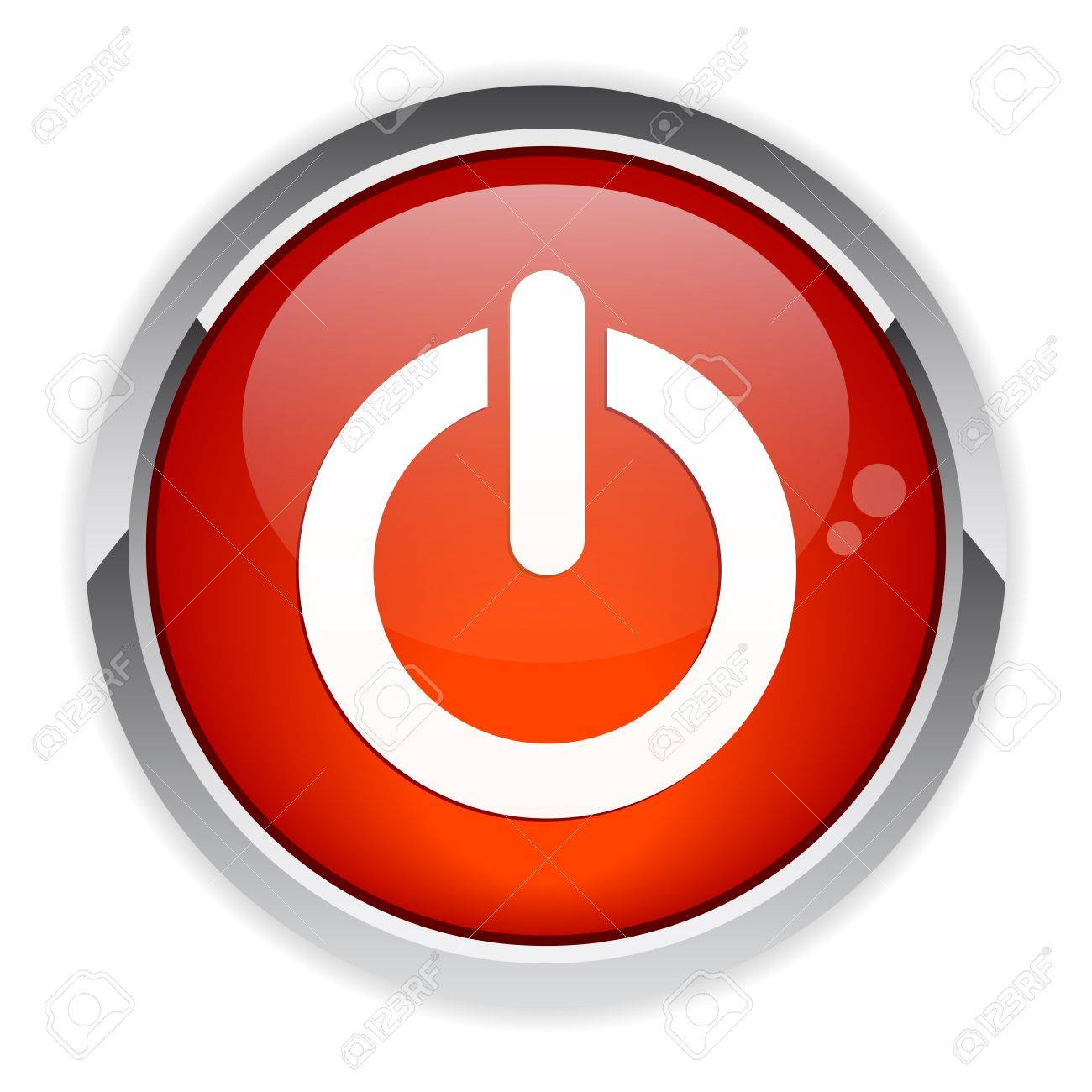 bouton internet power red Stock Vector - 21395098