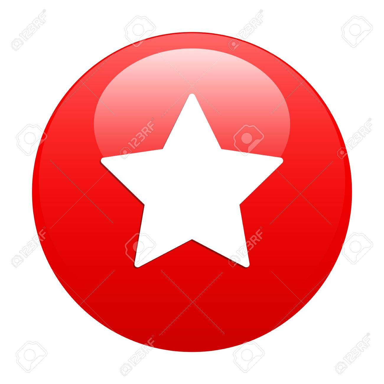 Bouton Web Favori star icon red Stock Vector - 21635092