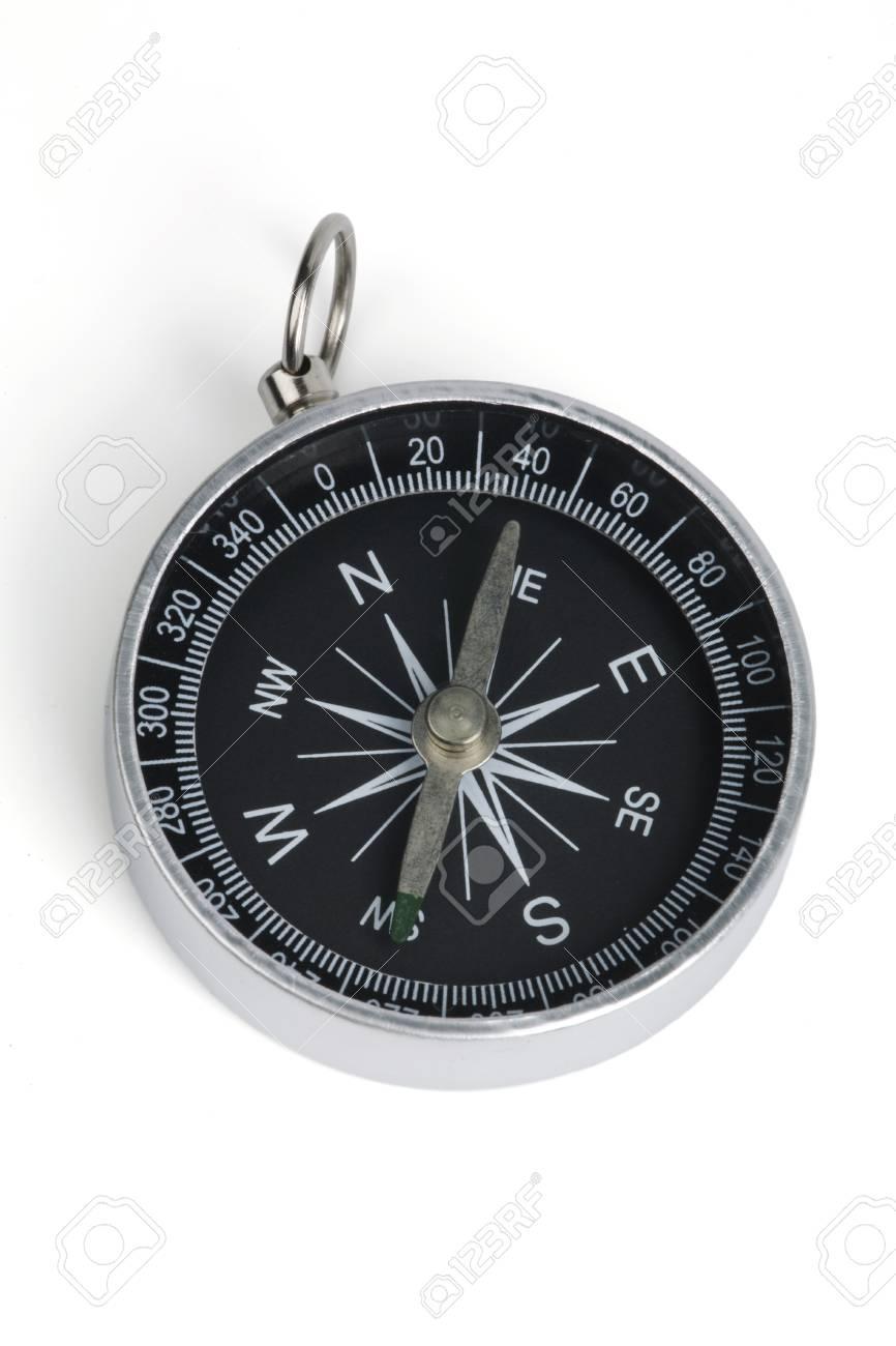 Tourist compass on a white background. Stock Photo - 8625842