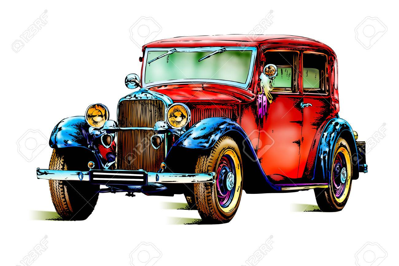 Old Classic Car Retro Vintage Stock Photo, Picture And Royalty Free ...