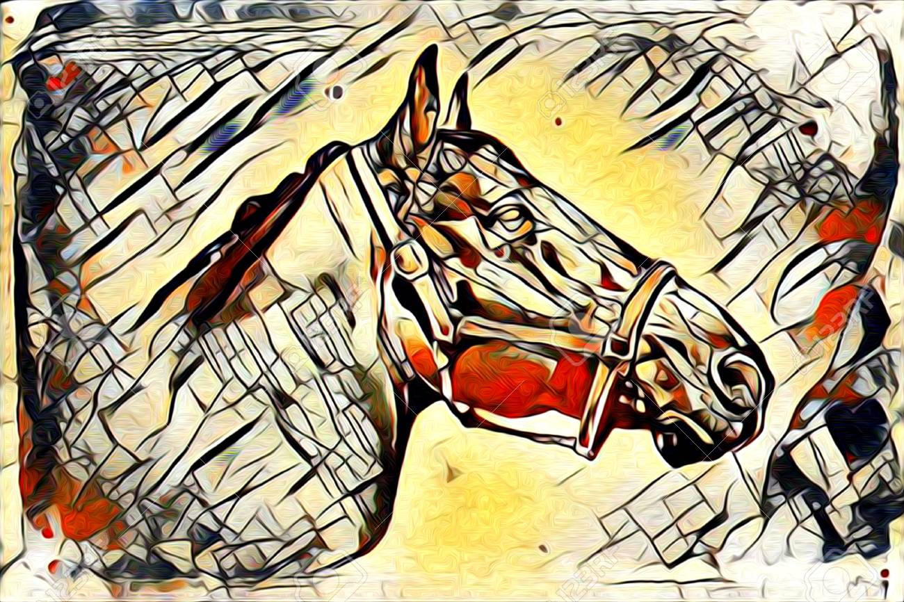 Original Oil Painting Of A Fine Arabian Horse Stock Photo Picture And Royalty Free Image Image 66497126
