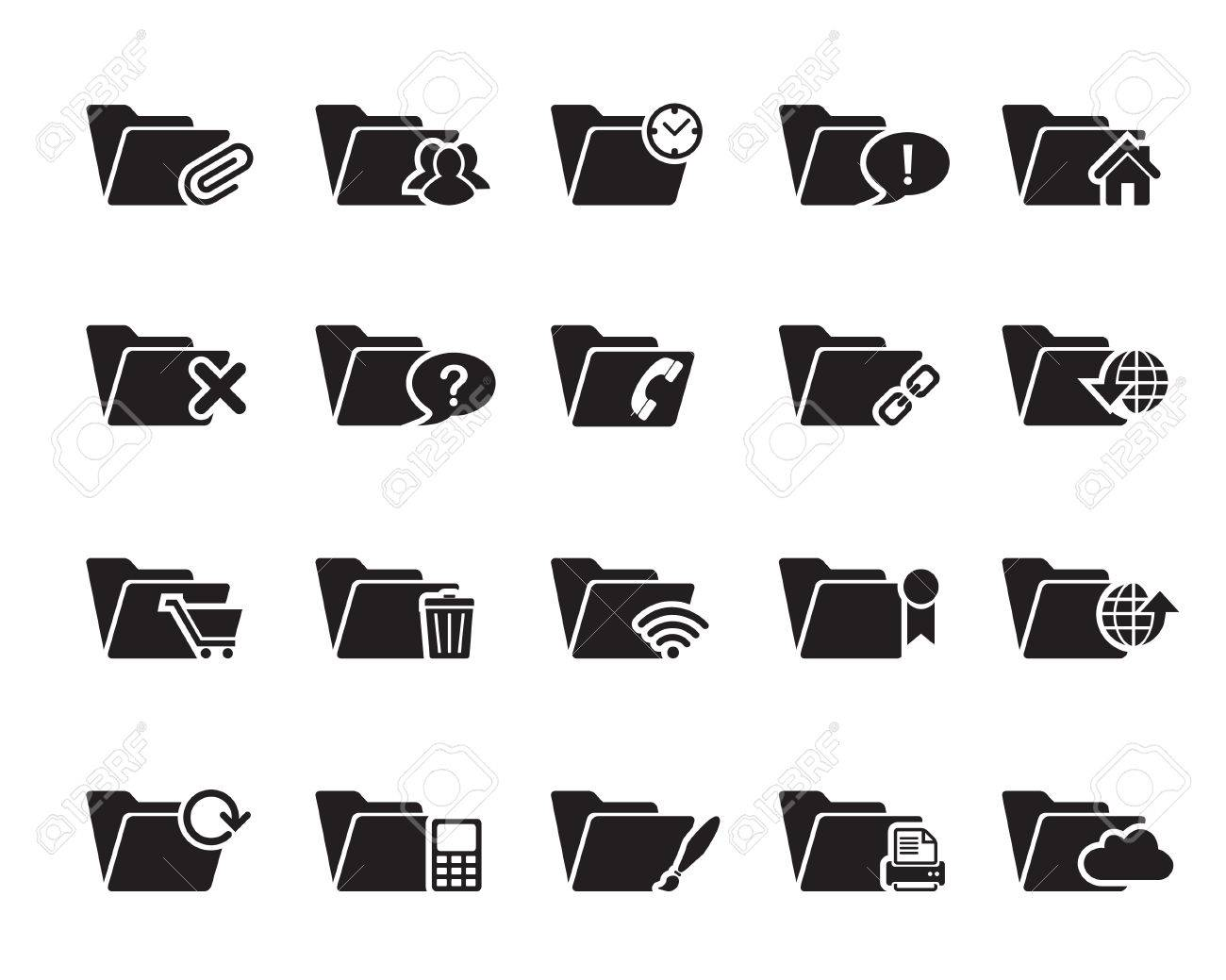File and Folder Icons vector illustrator, available in jpeg and