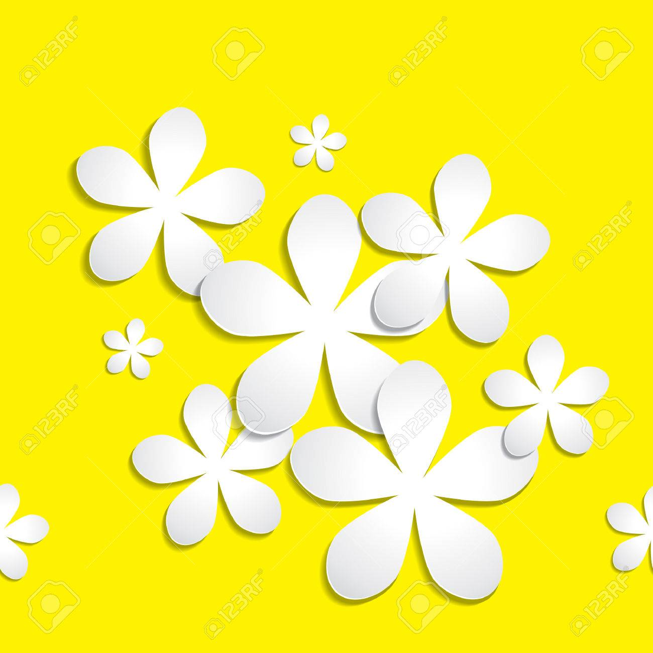 Abstract 3d Paper Flower Vector Pattern Background Available