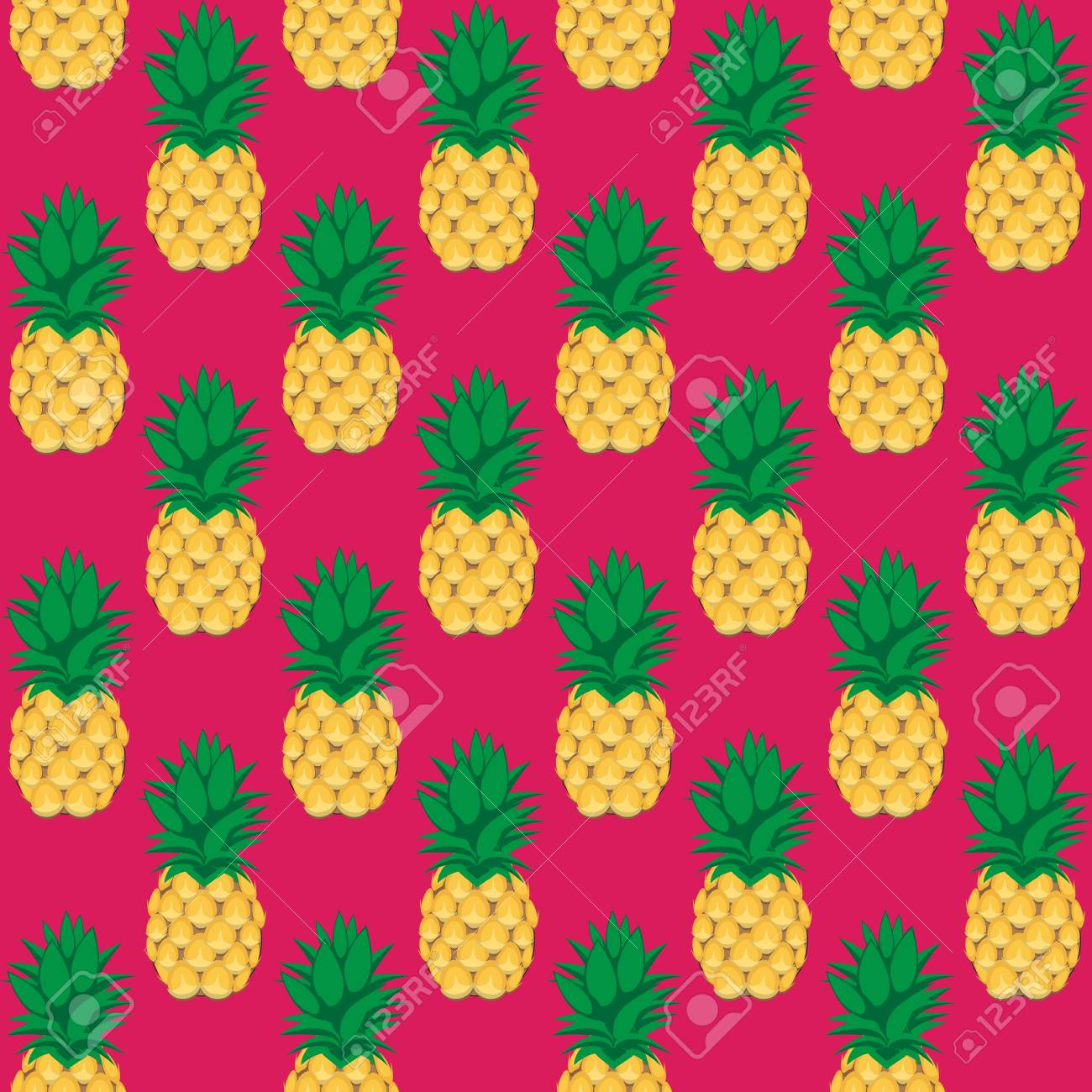 91991221 pineapple fruit contour abstract seamless pattern on pink background for wallpaper pattern web blog