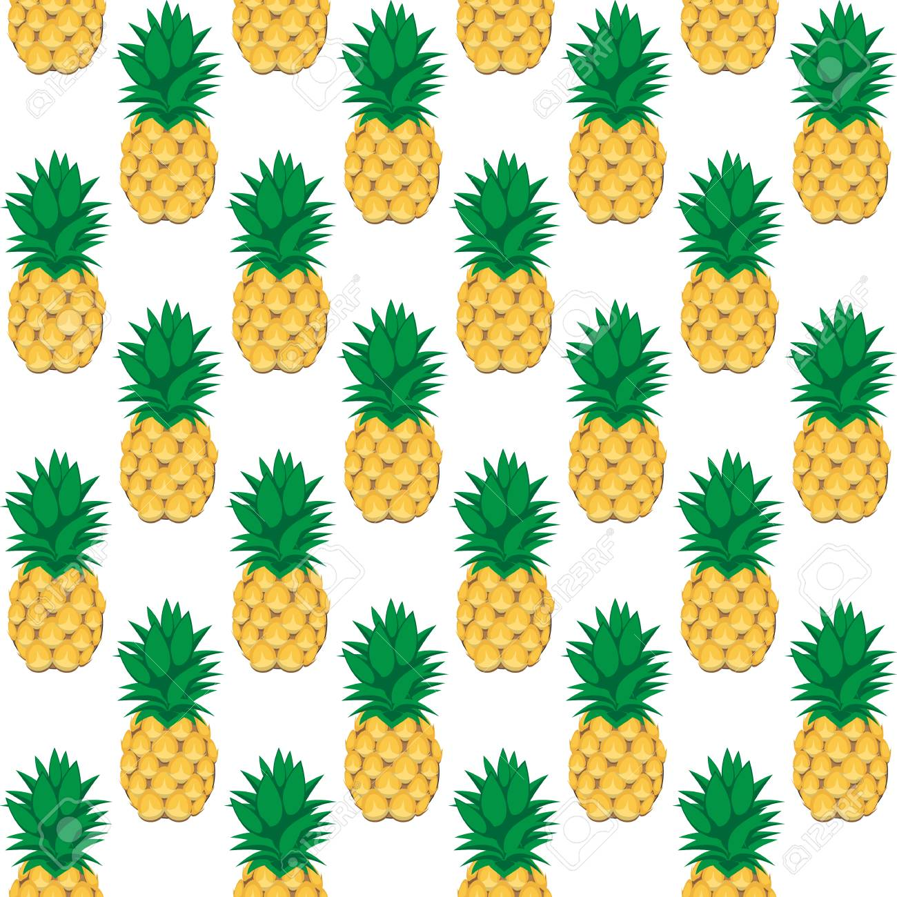 93462337 a pineapple fruit contour abstract seamless pattern on white background for wallpaper pattern web bl