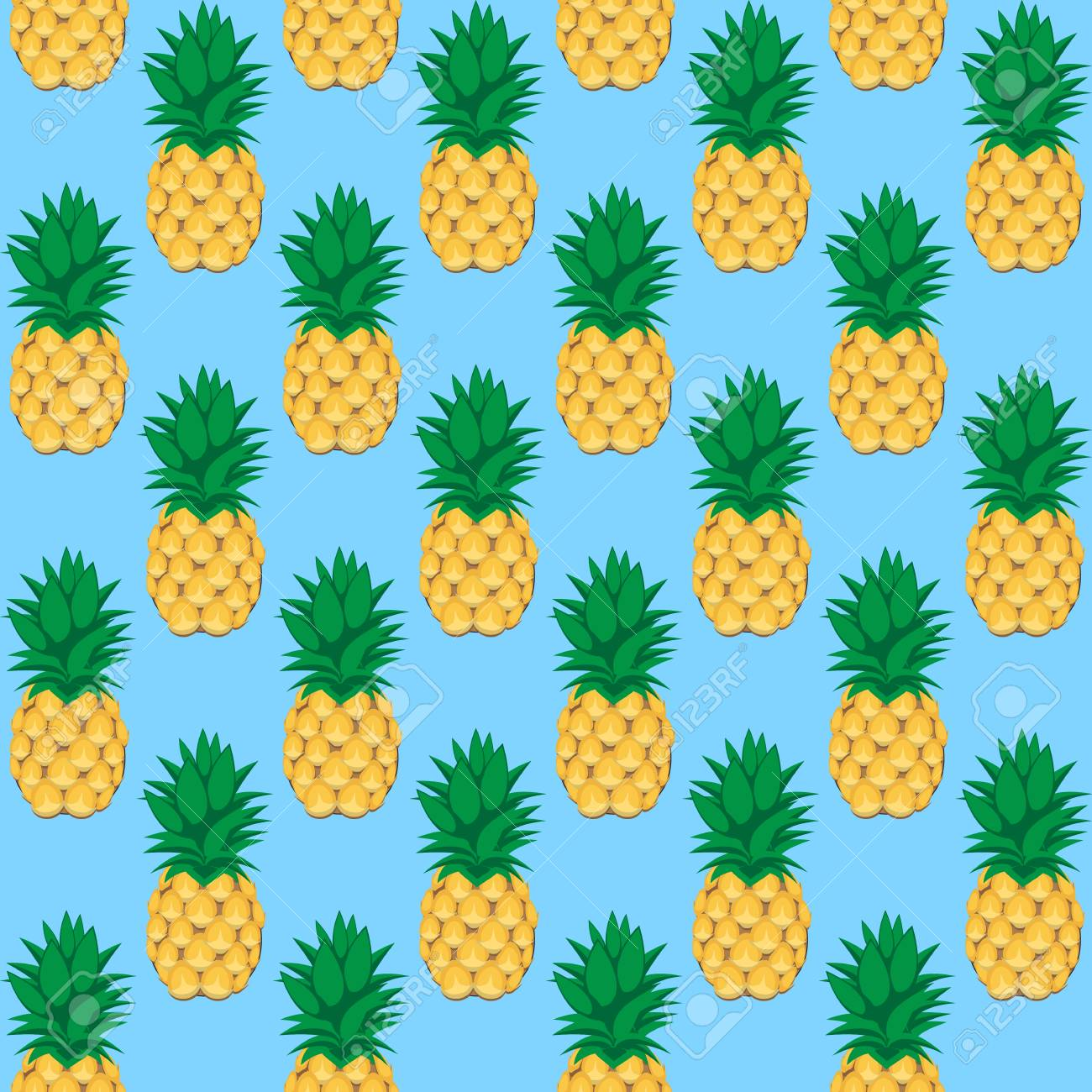 93462380 a pineapple fruit contour abstract seamless pattern on aqua blue background for wallpaper pattern we