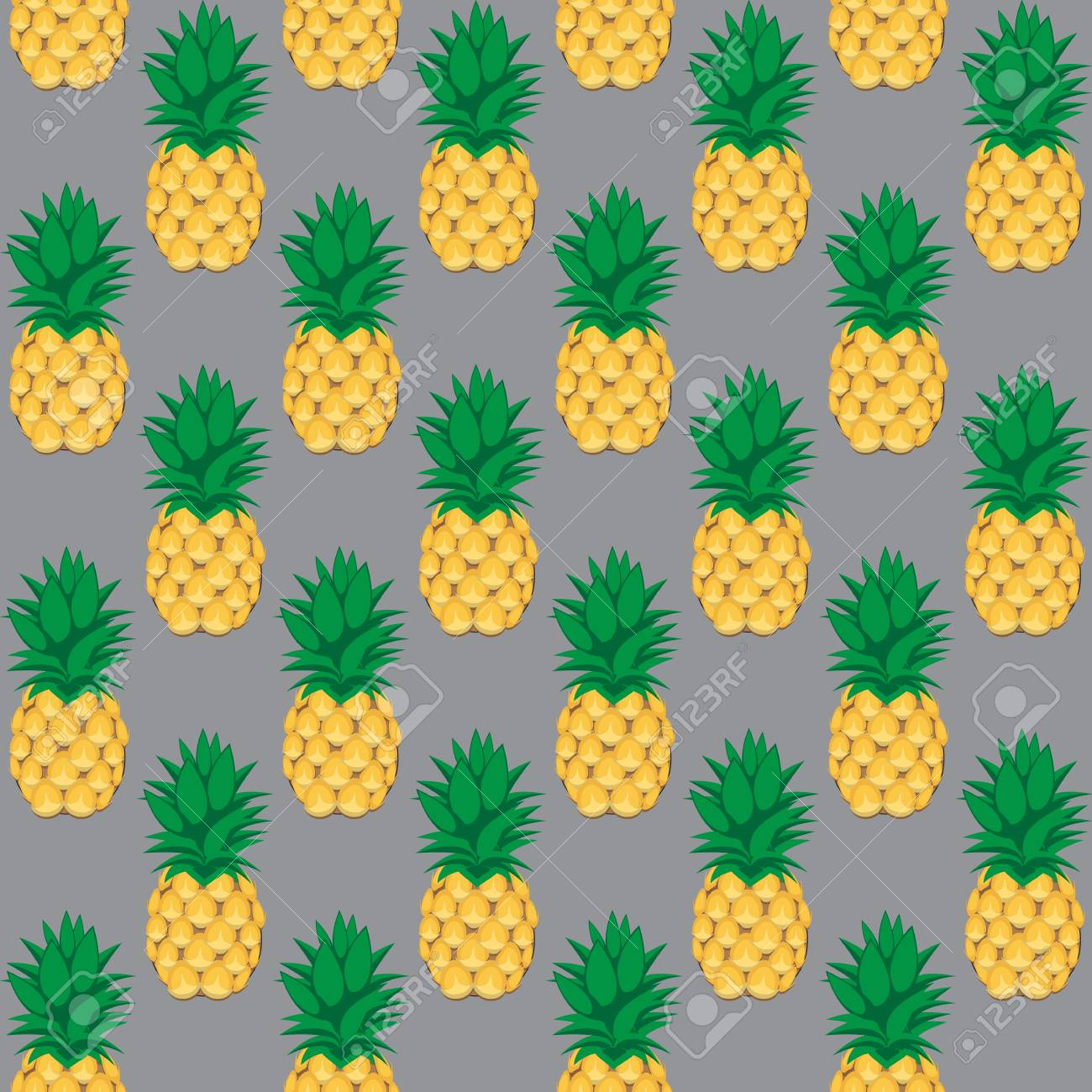 93657625 pineapple fruit contour abstract seamless pattern on grey background for wallpaper pattern web blog