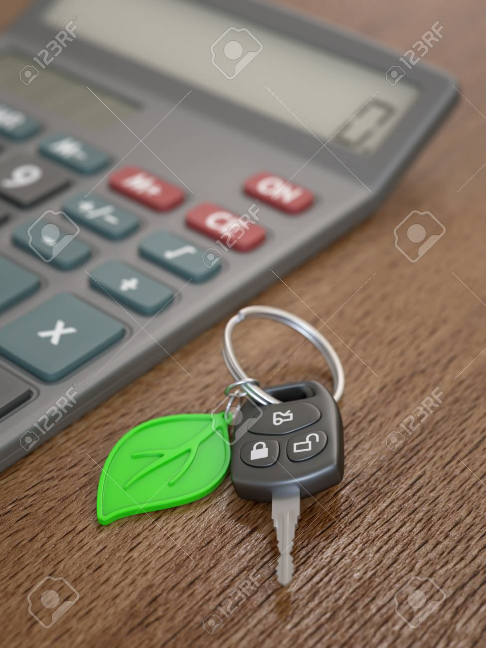 hybrid or electric car expenses calculation concept stock photo
