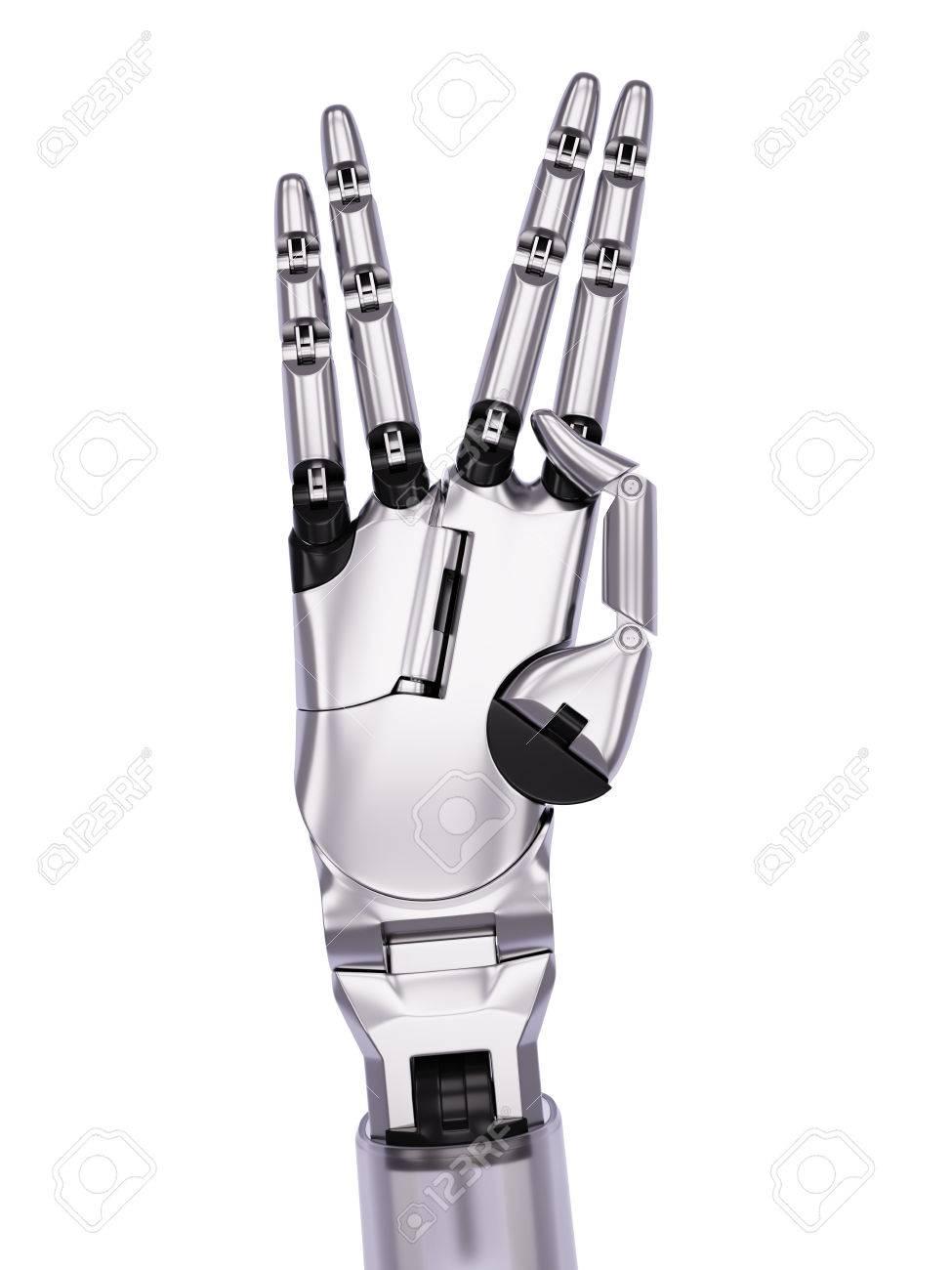 2b7c6dd67cf9 Banque d images - Robot Gestes longue vie et prospérité Concept  Illustration 3d