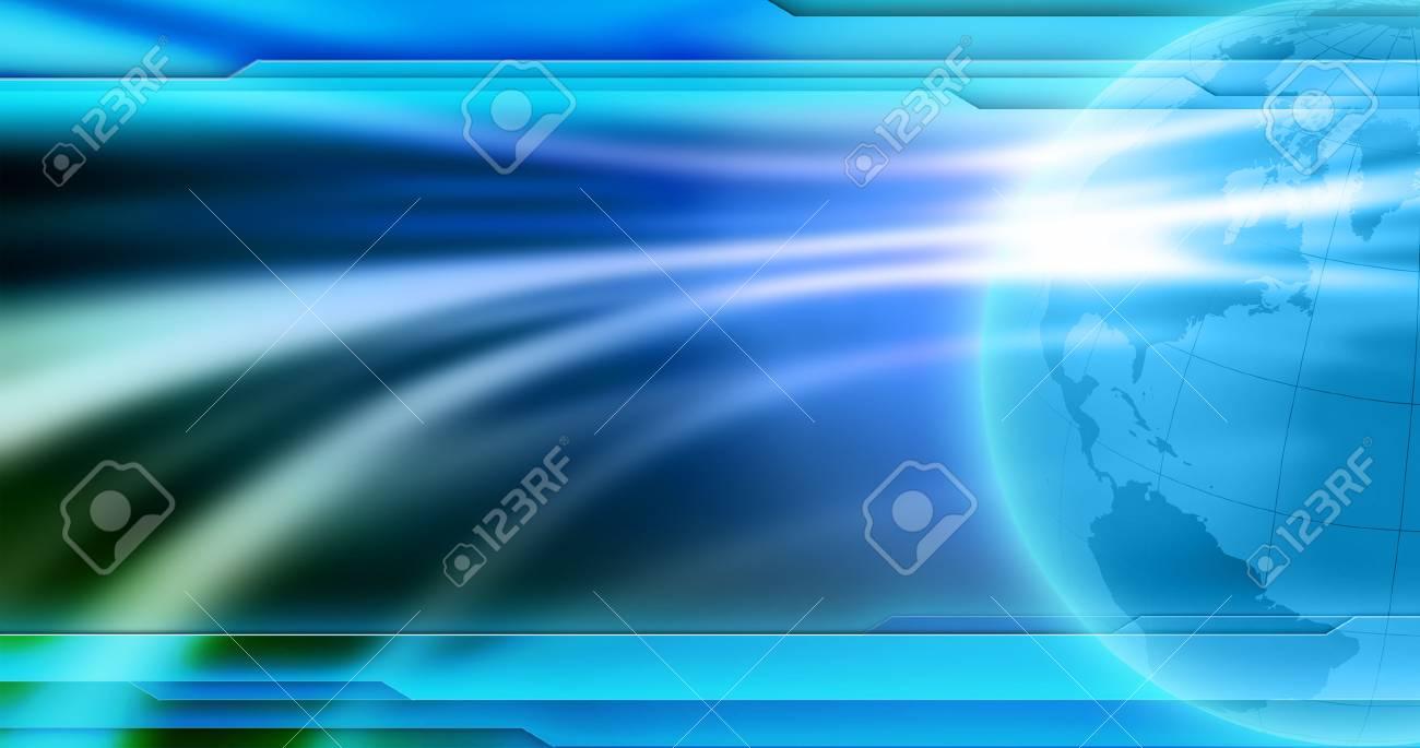 ニュースの背景の壁紙 グローバルニュース画像のための抽象的な空の青い背景 の写真素材 画像素材 Image