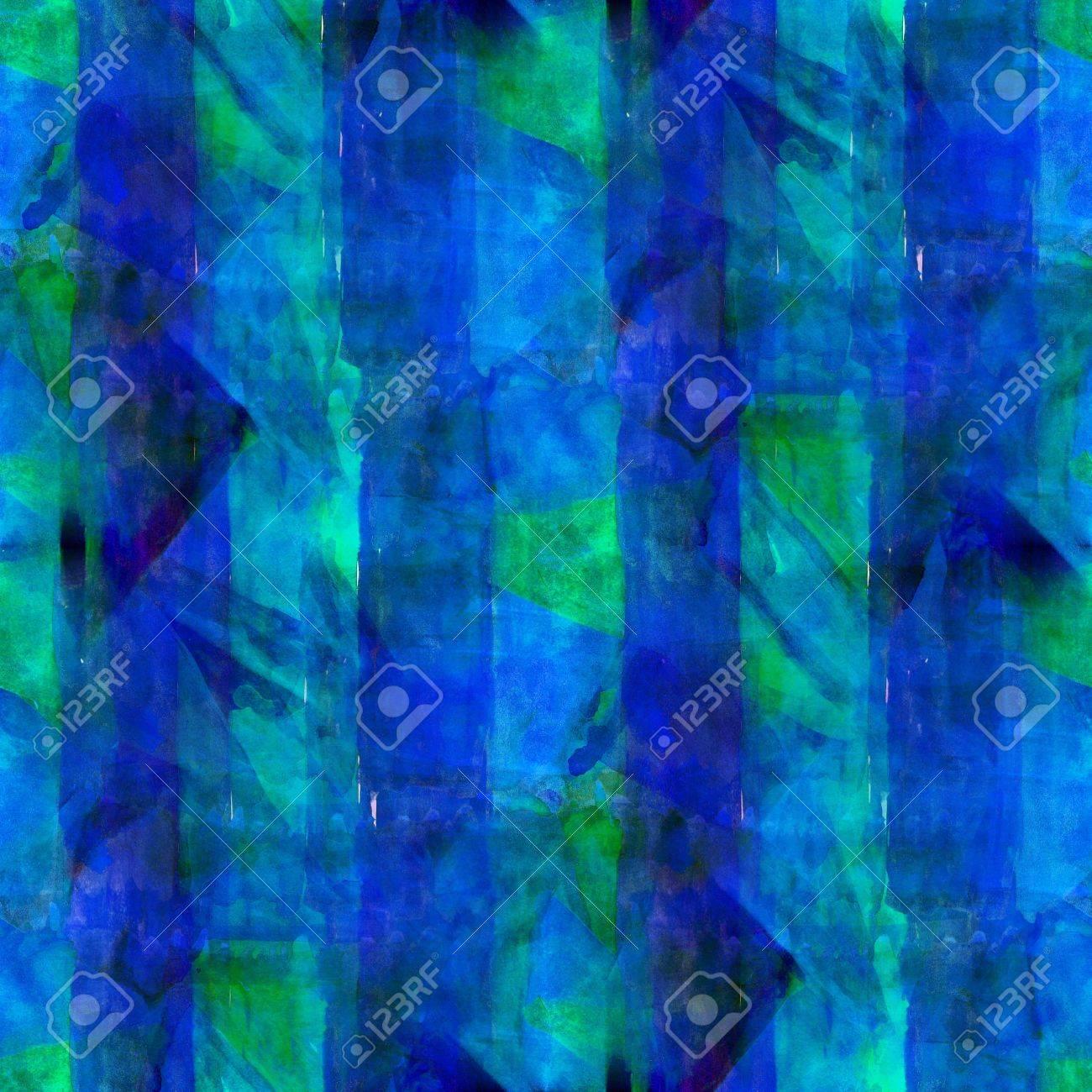 Abstracto Azul Pintado De Verde Wallpaper Arte Contemporáneo