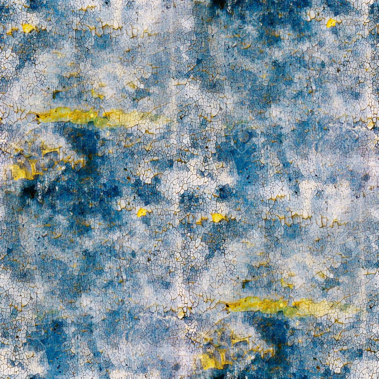 blue abstract texture old wall with cracks on paint Stock Photo - 16718797