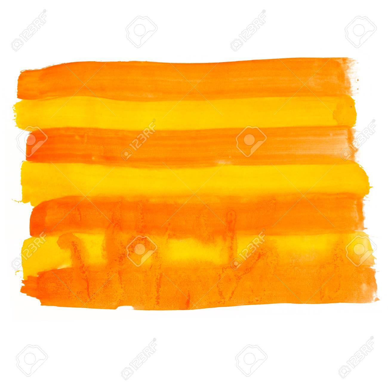 orange line watercolors spot blotch isolated Stock Photo - 16861699