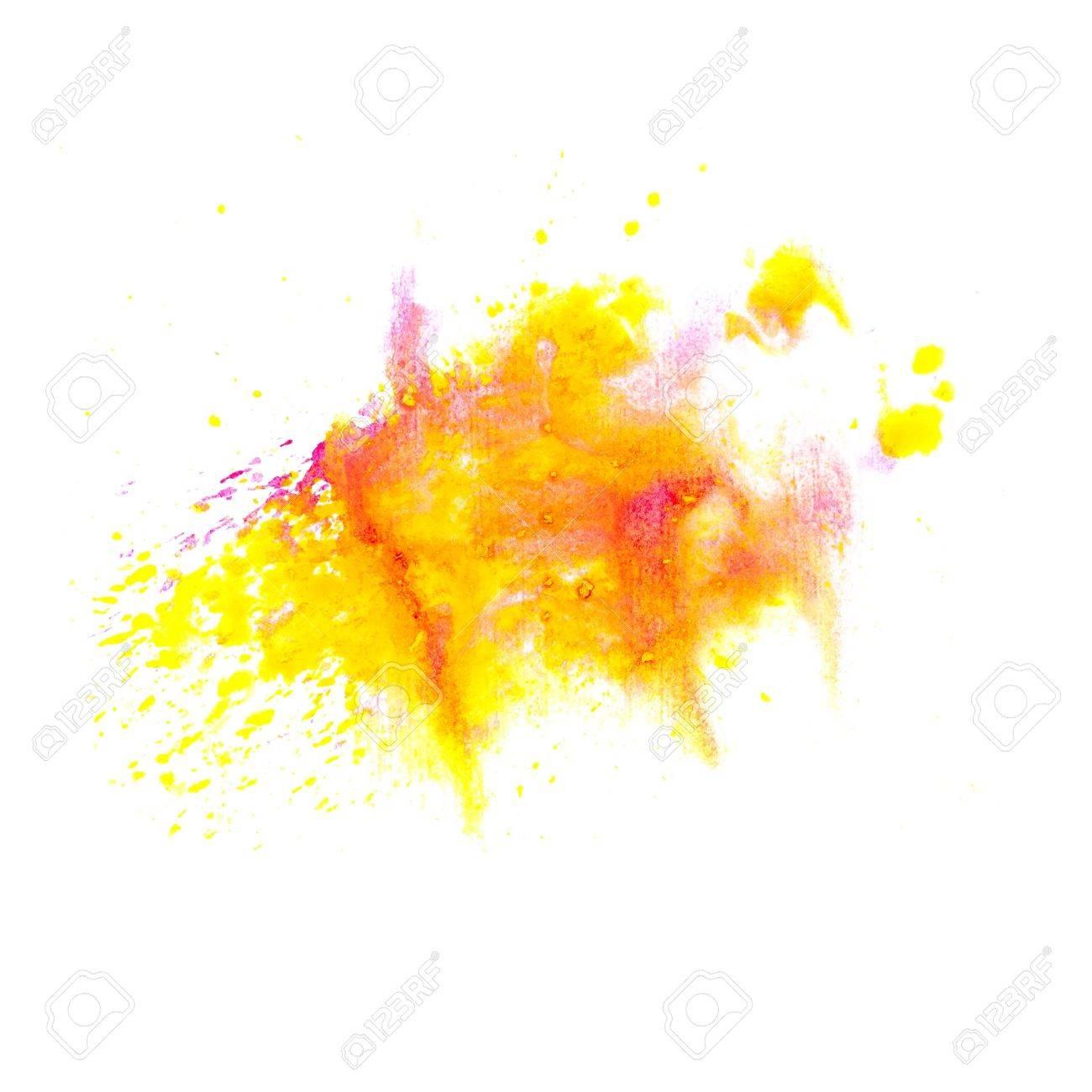 orange yellow macro spot blotch texture isolated on a white background Stock Photo - 16861700