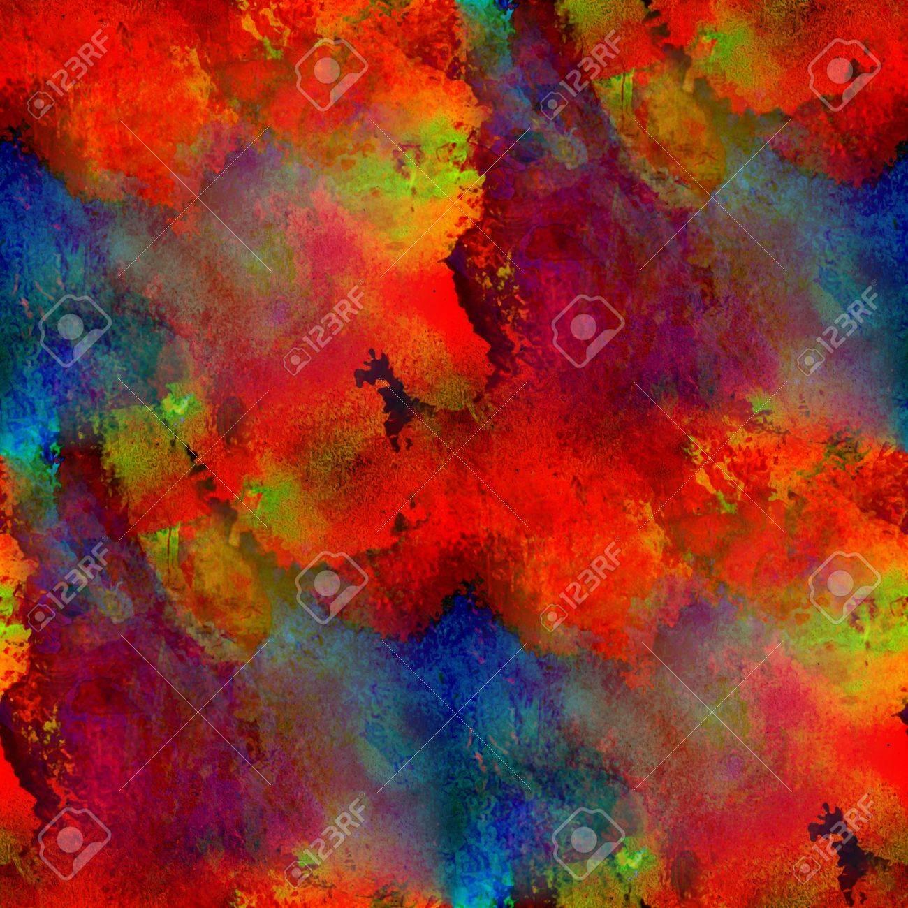 Peindre Coloré Rouge Bleu Jaune Texture Aquarelle Bande Transparente