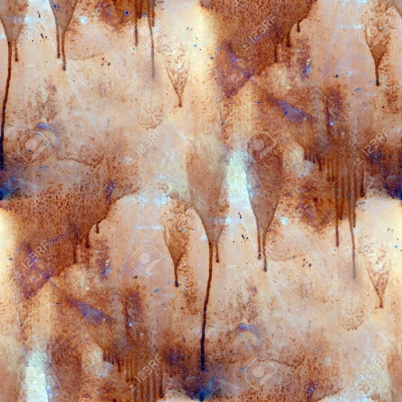 rust paint flowed seamless texture wallpaper iron Stock Photo - 16866887