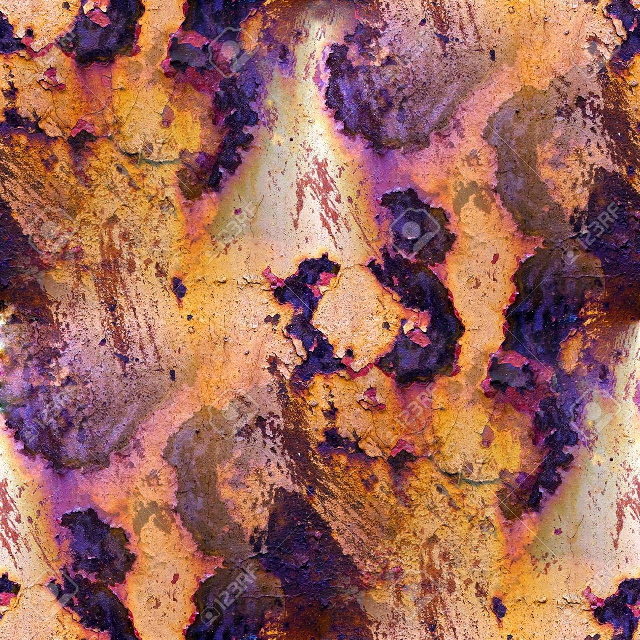 seamless texture of rust with purple spots Stock Photo - 16867680