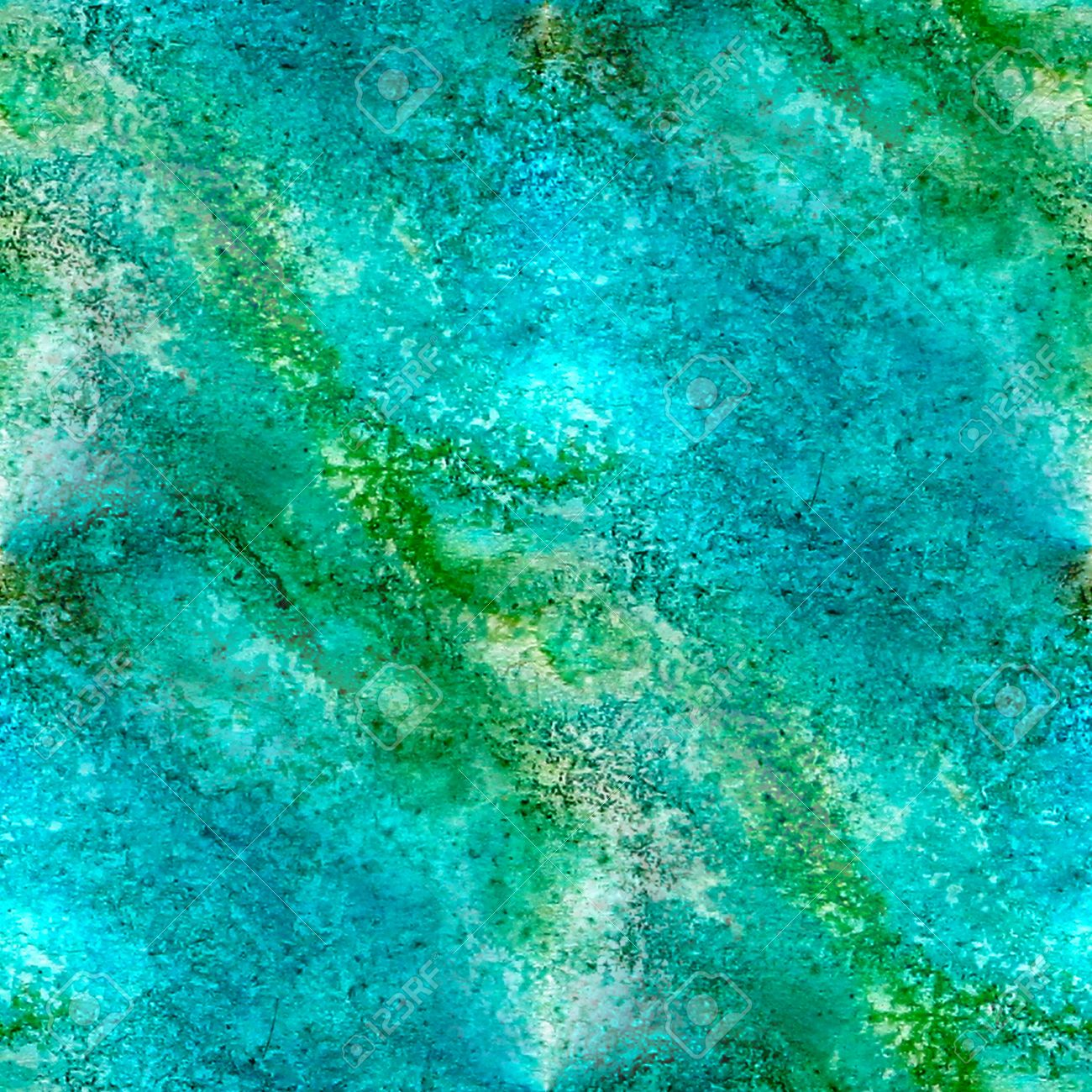 Abstract Watercolor And Blue Green Art Seamless Texture Hand