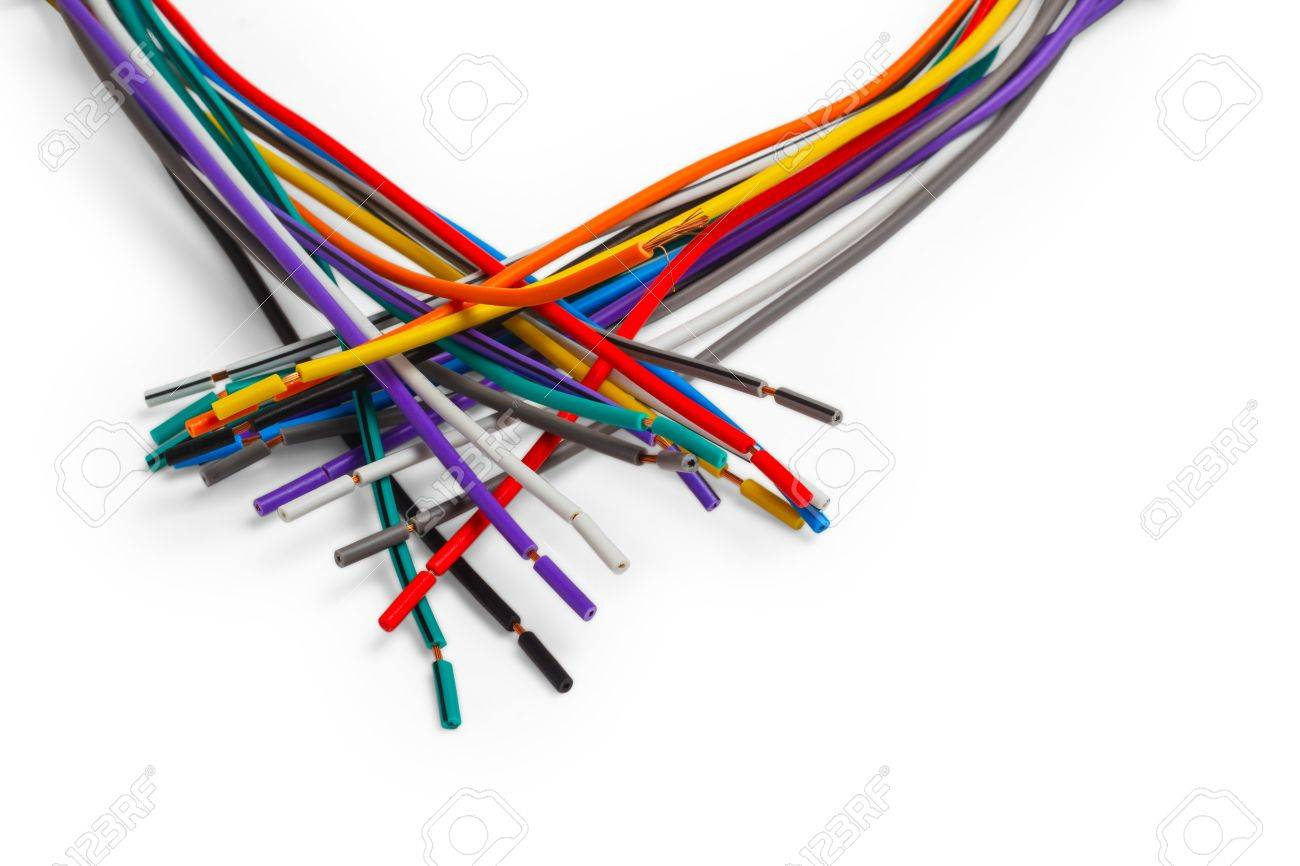 Color Wire Cable Technology Equipment Plastic Network Electric ...