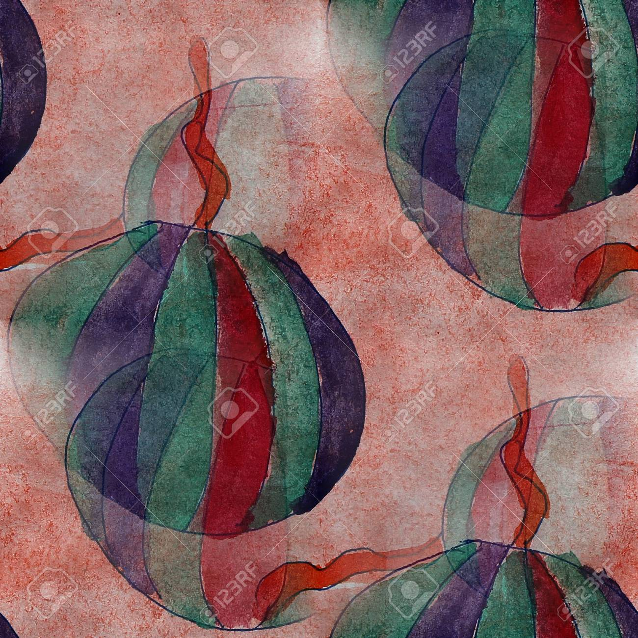 Verführerisch Kubismus Künstler Ideen Von Künstler Nahtlose Braun, Grün Abstwatercolor Tapeten Backgroundract