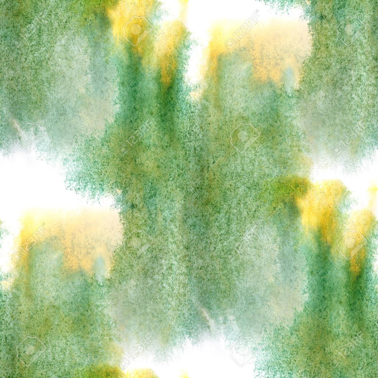 modern artist seamless yellow, marsh watercolor wallpaper texture of handmade Stock Photo - 34235363