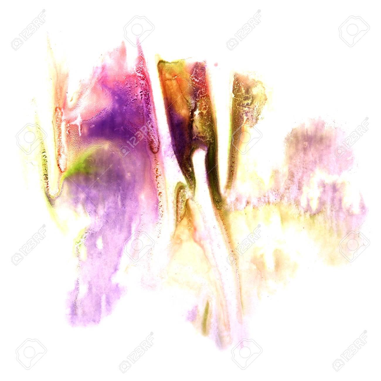 Peinture Violet, Rose, Vert Encre éclaboussures Spot Blob Tache De ...