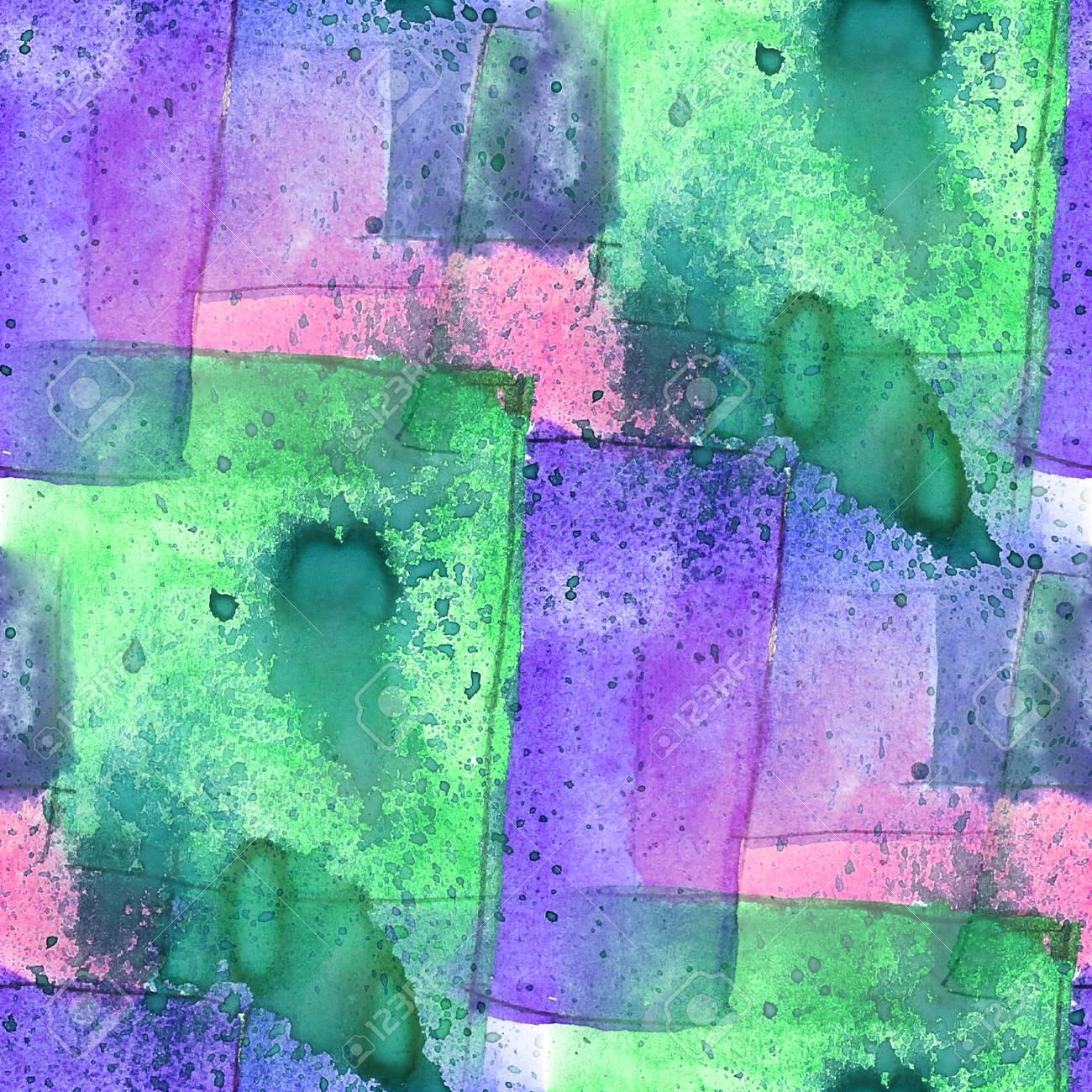 Motif Coloré Peinture à L\'eau De Texture Violet, Couleur Vert Résumé ...