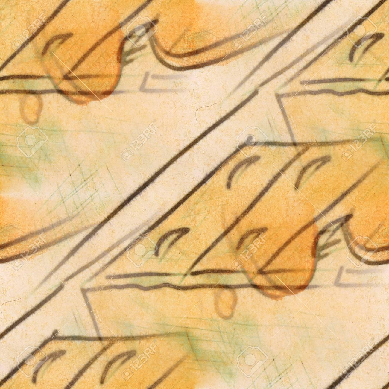 Seamless Light Brown Cabinet Figures Texture Background Wallpaper