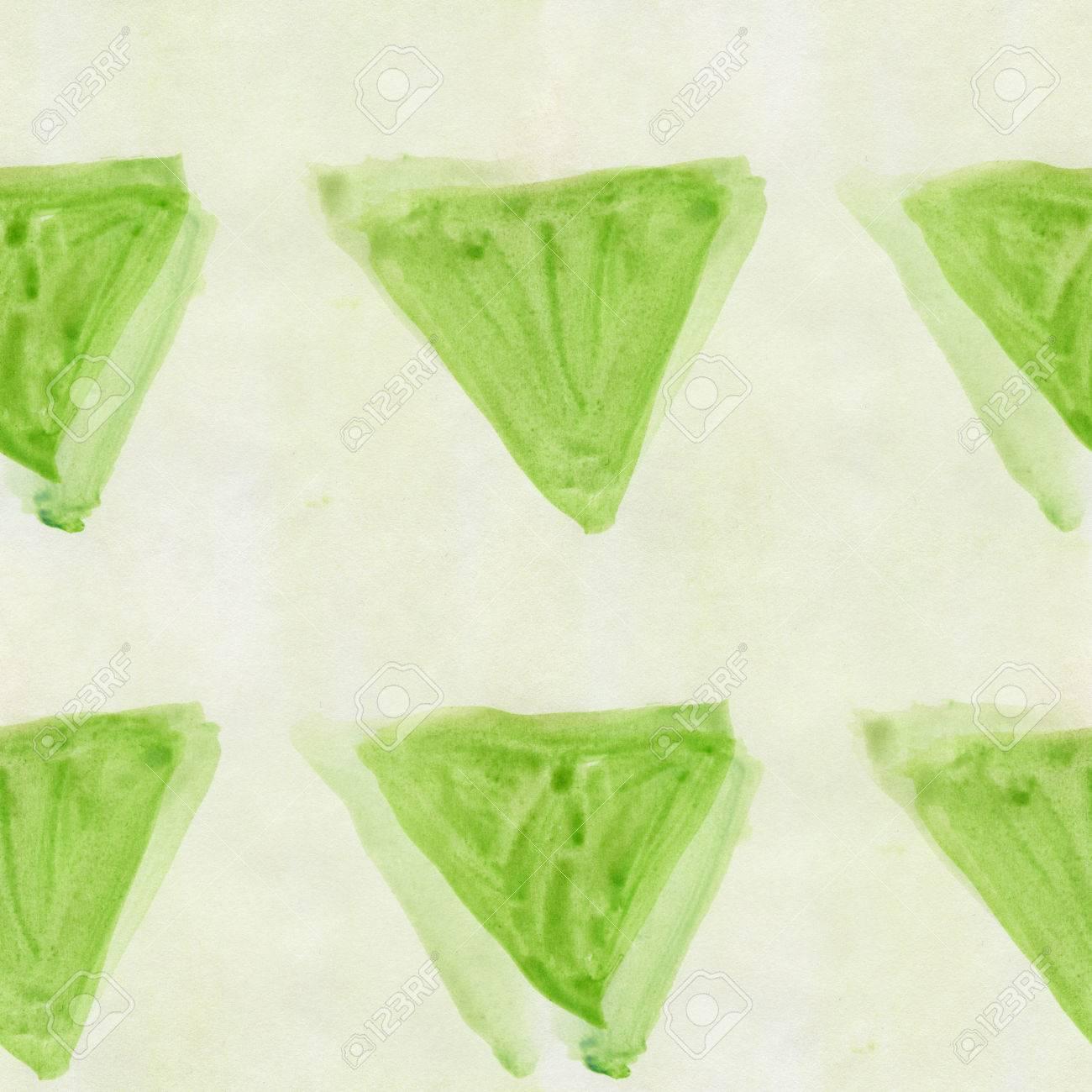 Art Triangulaire Modele Triangle Vert Abstrait Sans Soudure Bande