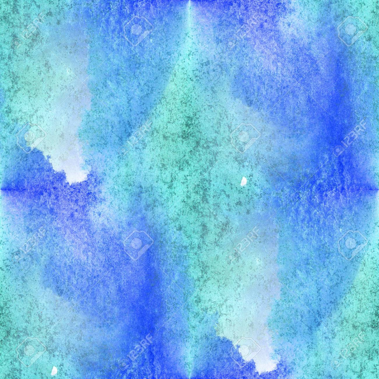 Seamless Watercolor Background Blue Green Abstract Texture Pattern