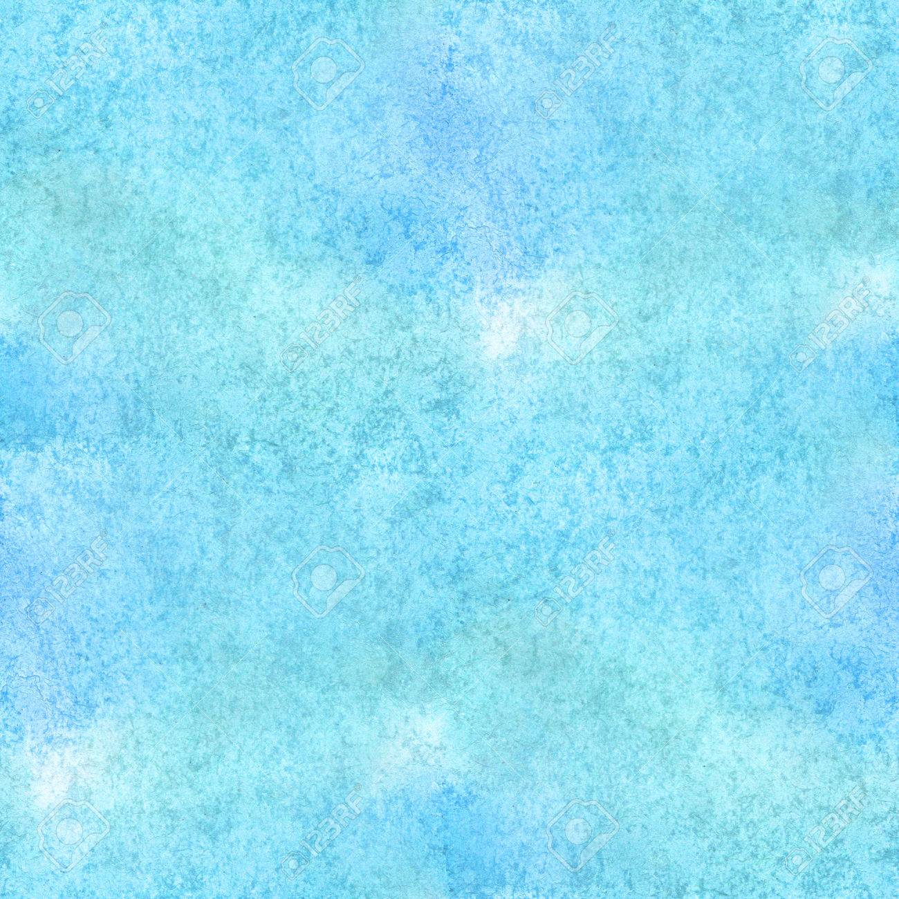 Seamless Watercolor Background Blue Abstract Pattern Texture