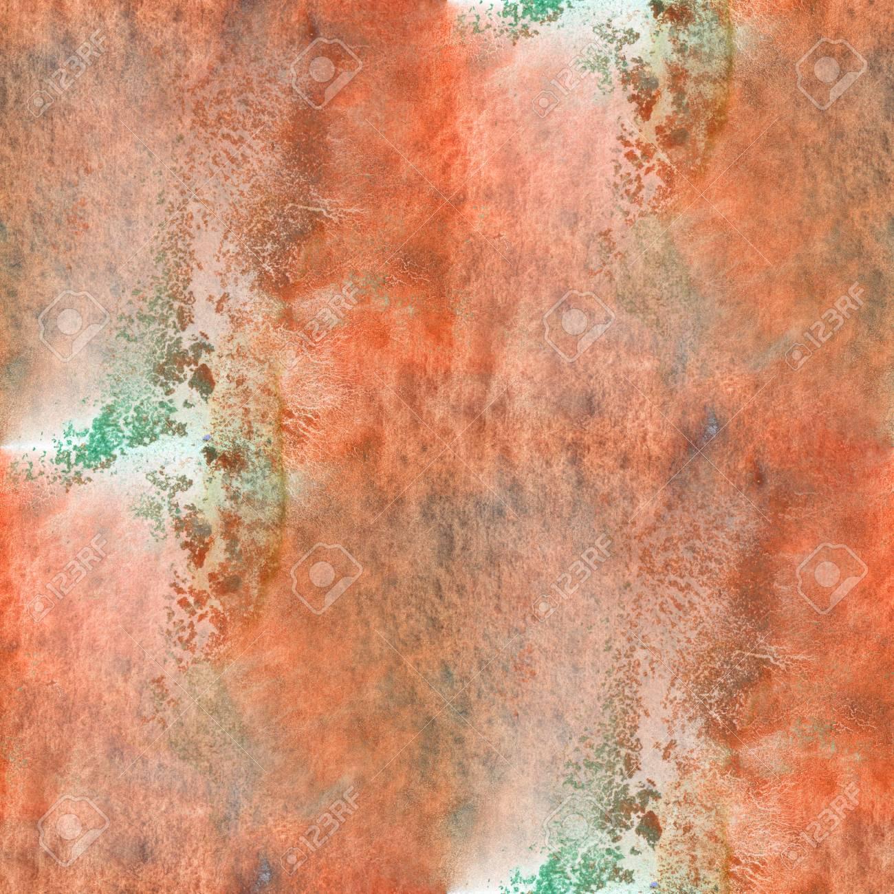 Texture Abstraite D Art Aquarelle Vert Orange Transparente Motif