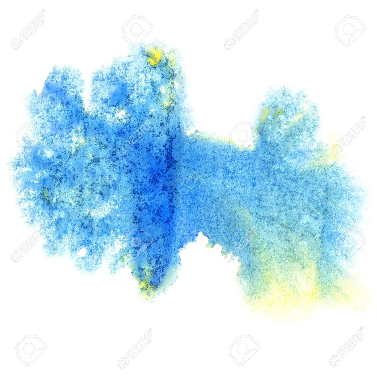 peinture bleu splash couleur encre aquarelle isolé accident