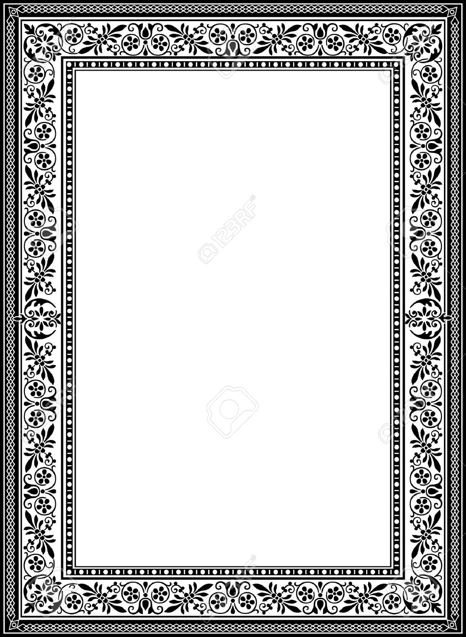 Marvelous Decorative Western Old Frame Border Stock Vector   23185494