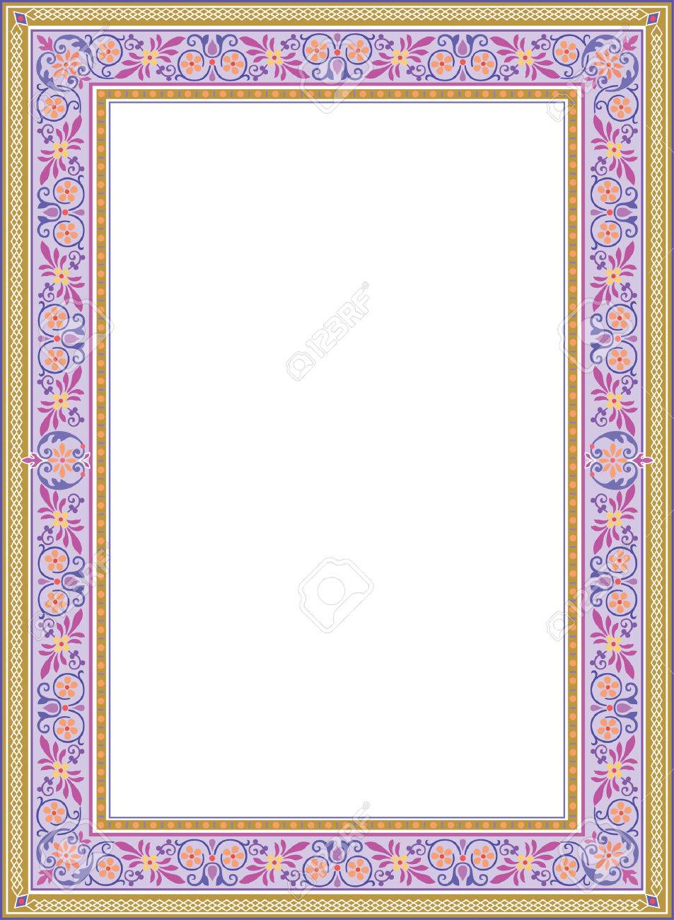 Decorative Western Old Frame Border Royalty Free Cliparts, Vectors ...