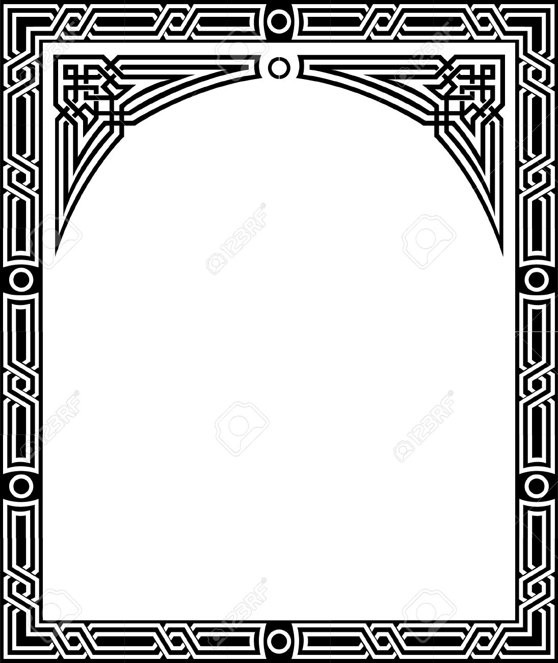 Islamic style border frame with elegant vector lines royalty free islamic style border frame with elegant vector lines stock vector 23185750 altavistaventures Images