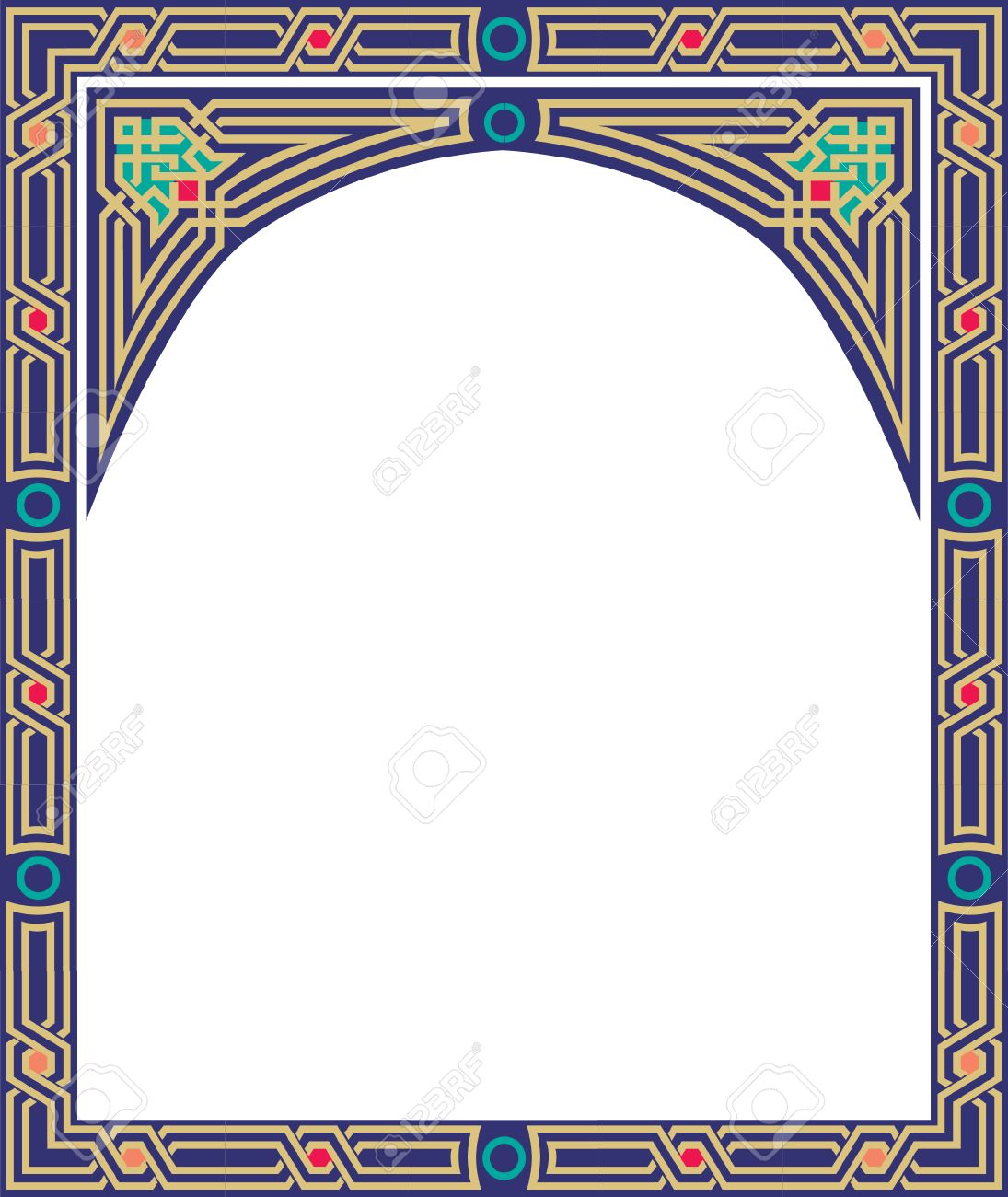 Islamic style border frame with elegant vector lines Stock Vector - 23185777