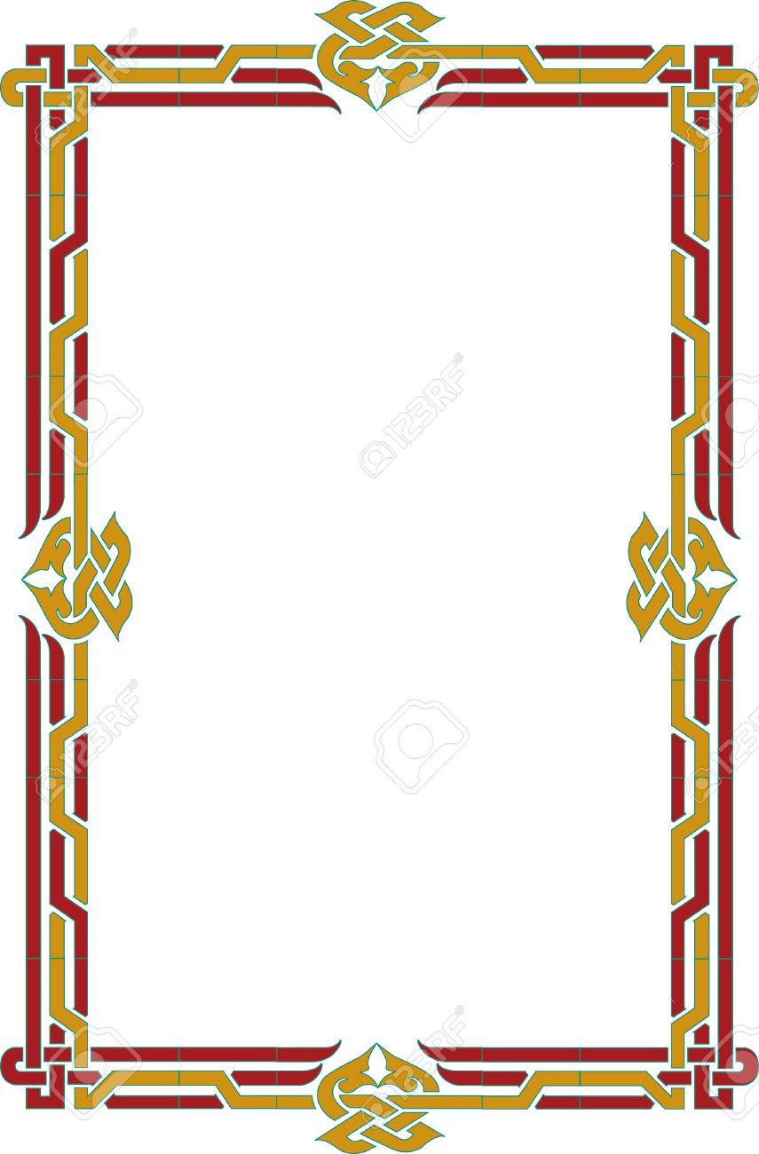 Elegante Linien Vektor, Border Frame, Dünn Lizenzfrei Nutzbare ...