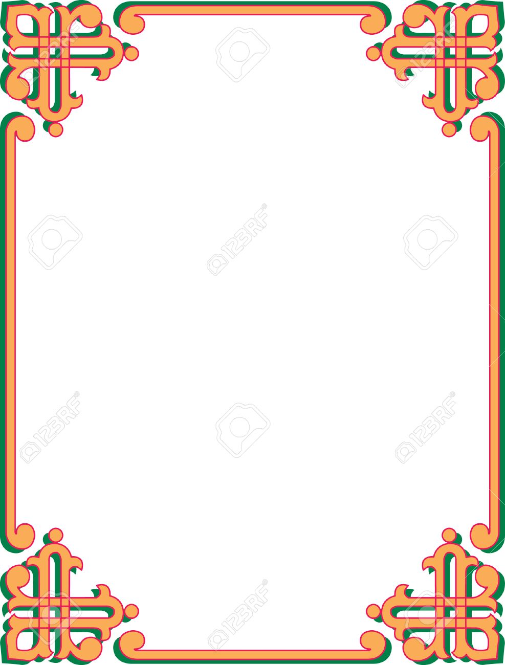 Simple Corner Border Frame Stock Vector