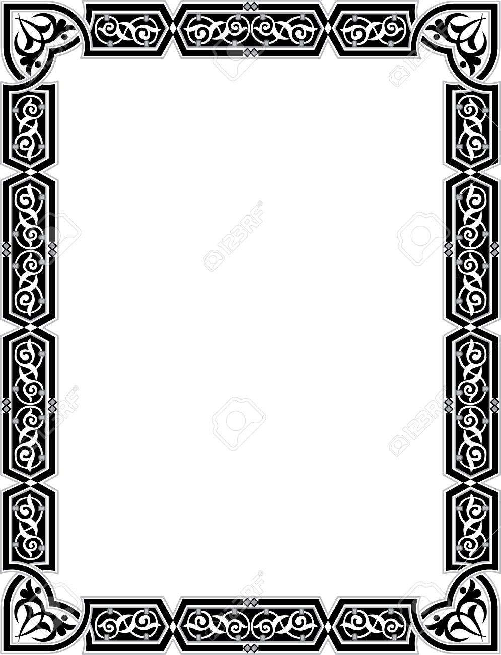 Islamic style border frame with elegant vector lines royalty free islamic style border frame with elegant vector lines stock vector 23185792 altavistaventures Images