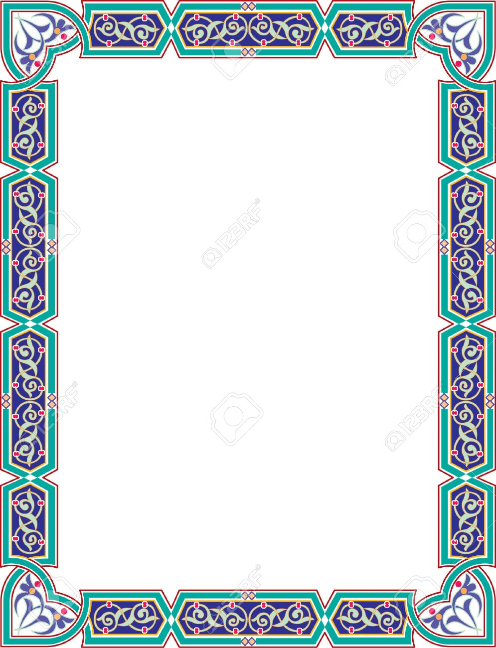 Islamic style border frame with elegant vector lines royalty free islamic style border frame with elegant vector lines stock vector 23185793 altavistaventures Images