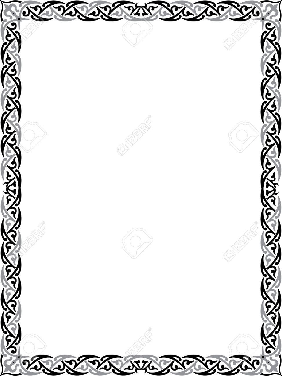 Cadre Bordure cadre de bordure élégante clip art libres de droits , vecteurs et
