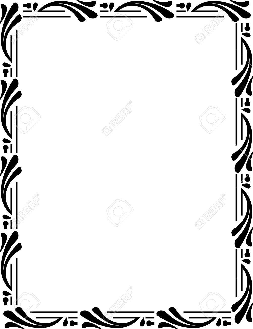 Beautiful ornate frame, monochrome Stock Vector - 23314438
