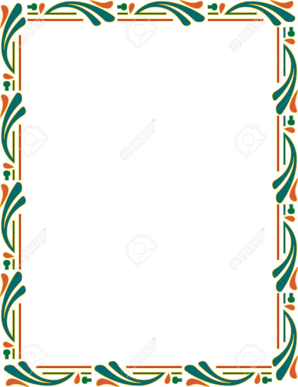 Beautiful ornate frame, colored Stock Vector - 23314440