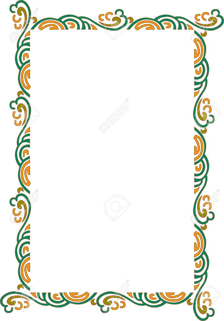 Beautiful ornate frame, wind style, colored Stock Vector - 23314439