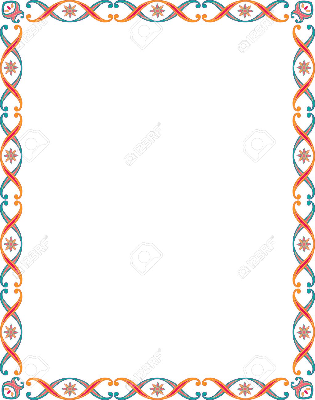 Beautiful basic border frame, colored Stock Vector - 23314466